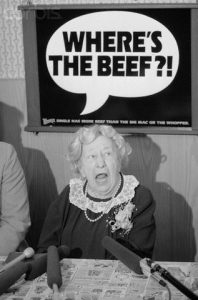 Clara Peller Asking Famous Question