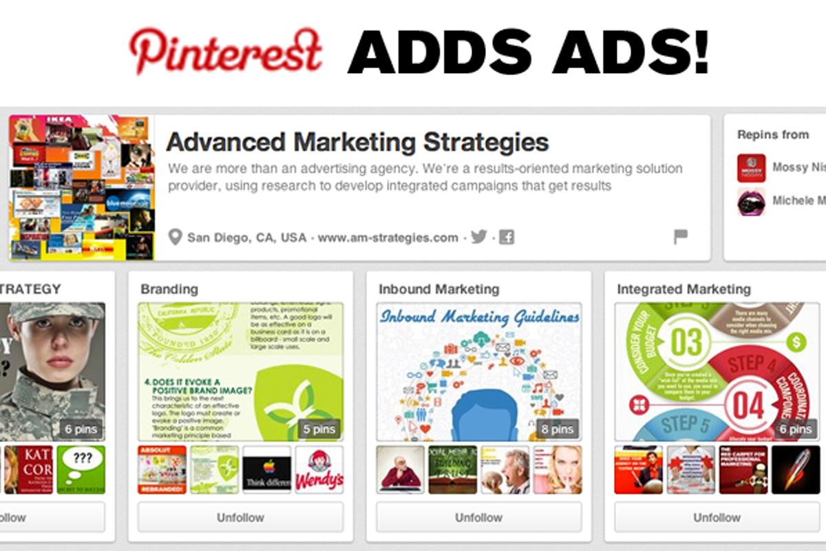 Advertising Interest In Pinterest
