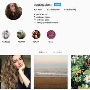 Grace Abbott micro-Influencer