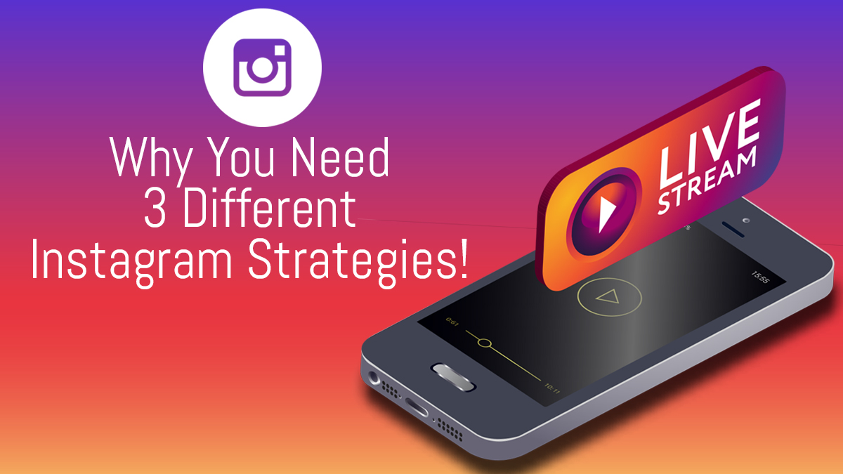 Why You Need 3 Different Instagram Strategies!